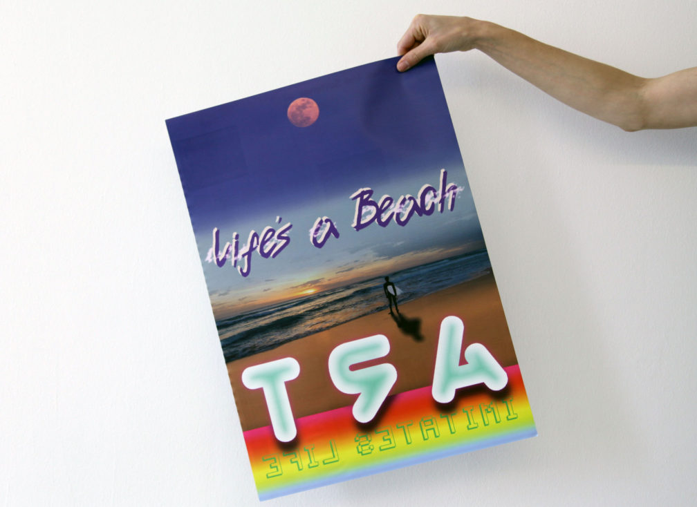 Jim Ricks: Life's a Beach (Art Imitates Life) poster publication