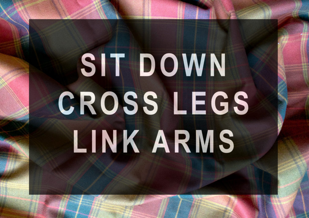 Tonya McMullan: Sit Down Cross Legs Link Arms